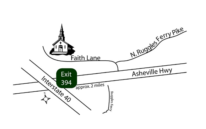 map from I-40 in Knoxville, TN