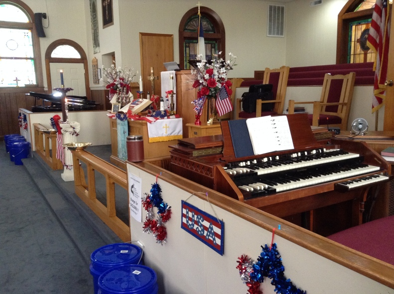 Sunday service in honor of Memorial Day.